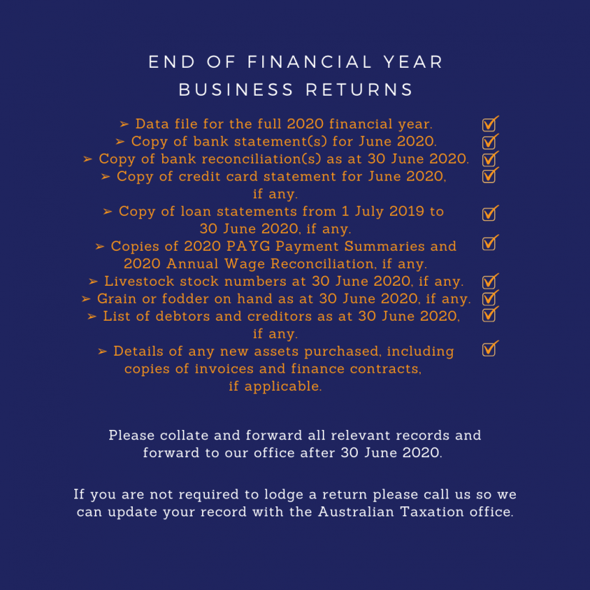 End Of Financial Year
